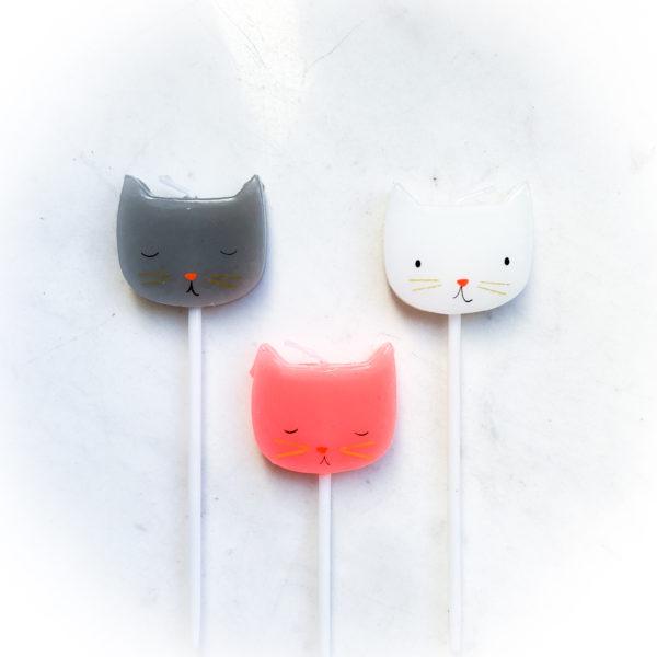 Свеча для торта, коты-собаки