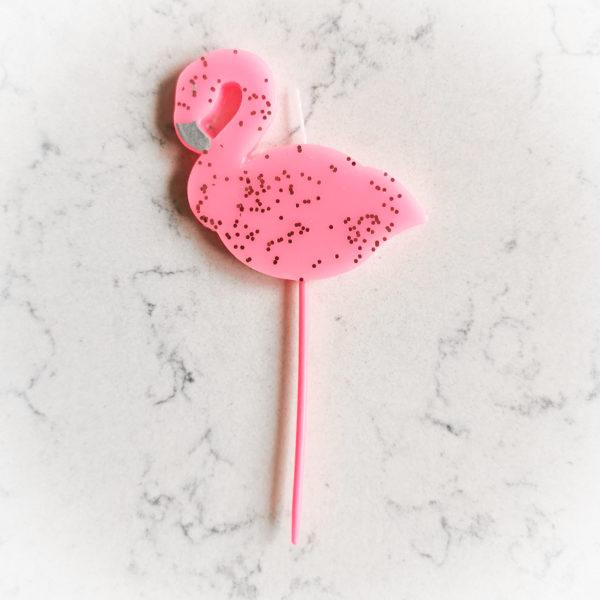 Свеча для торта, звери (Фламинго)
