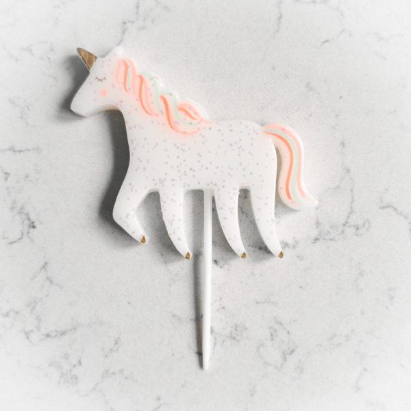 Свеча для торта, звери (Единорог)