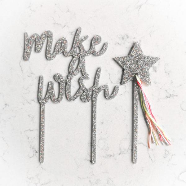 Топпер для торта (Make a wish)