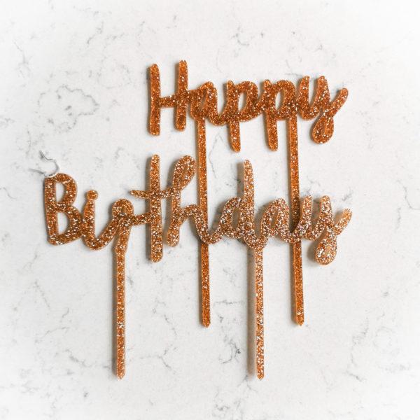 Топпер для торта (Happy Birthday)