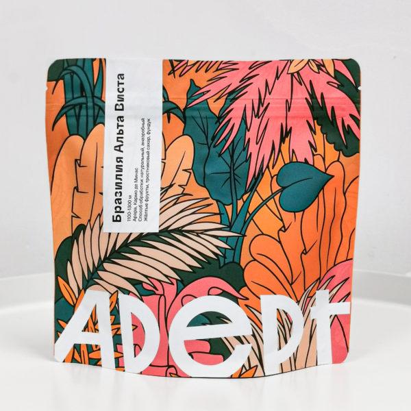 ADT Бразилия Альта Виста, 200g, кофе в зёрнах
