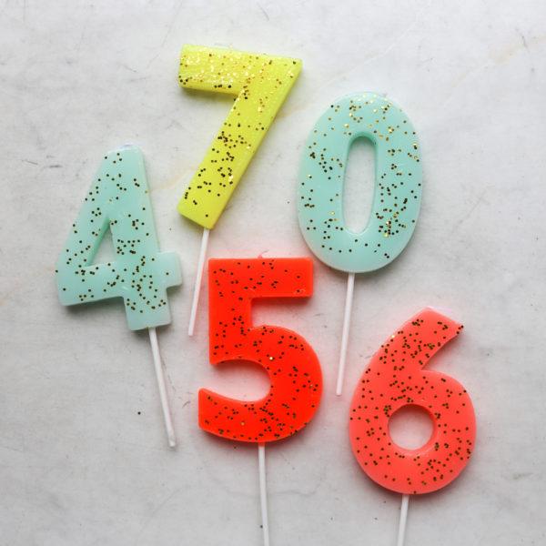 Свеча для торта, цифра