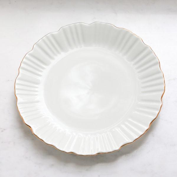 Тарелка 26 см с золотой каймой